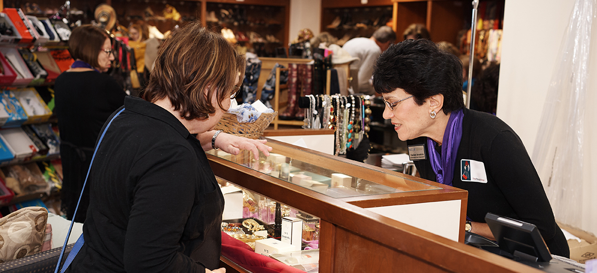 photo of two women shopping at The ReSale Shop