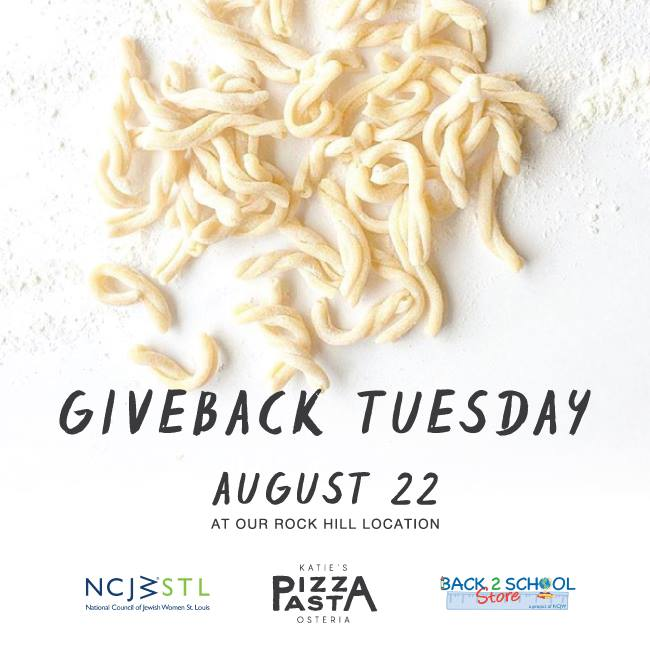 Katie's Pizza Giveback Tuesday
